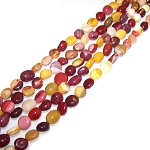 1 Strand of 7x10mm Irregular Nuggets Semiprecious Gemstone Beads - Moukaite